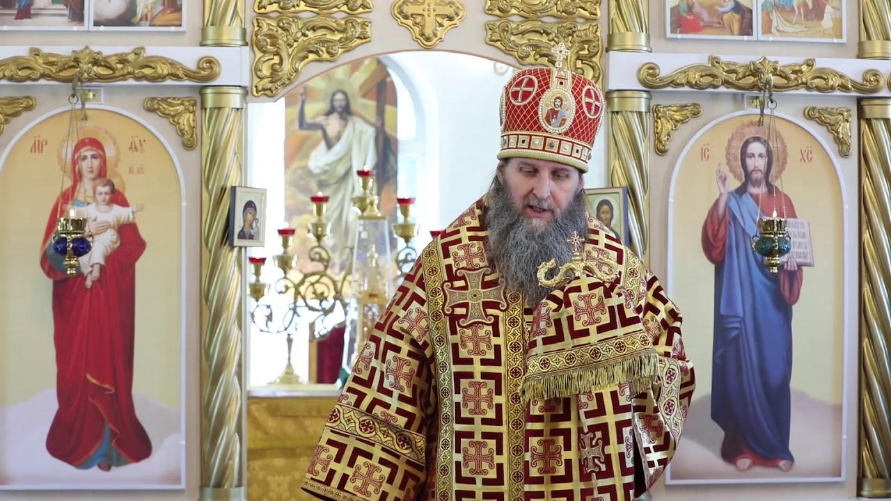 Литургия в годовщину освящения храма Иоанна Кронштадтского.Проповедь митрополита Даниила
