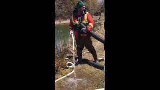How to start a siphon a pond in 10 mins