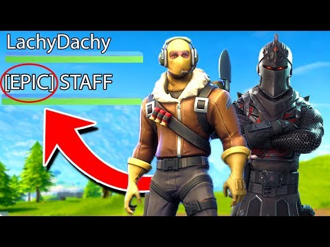 I Played FORTNITE With An EPIC EMPLOYEE!