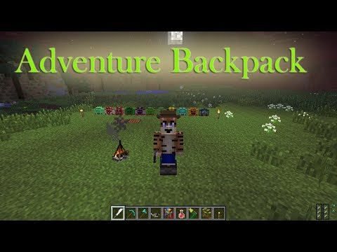 Adventure Backpack Mod Showcase (Minecraft 1.7.10)