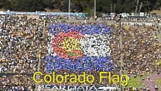 Cal vs. Colorado State Card Stunt Show