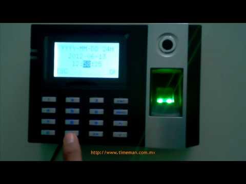 Reloj Checador E9 [Parte 4] - Configurar Fecha y Hora | ZKSoftware | Huella Digital