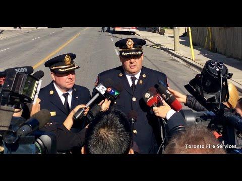 Firefighter Injured during Dufferin Street Fire