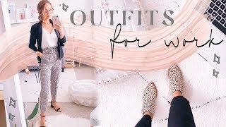 OUTFITS OF THE WEEK FOR WORK | Business Casual Outfit Ideas! ✨