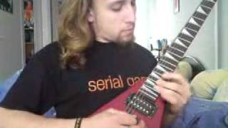 DRAGONLAND - Storming across heaven - Guitar solo cover - by Tony SH