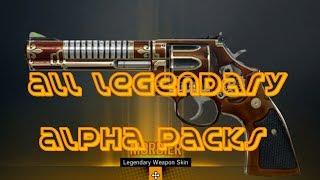 Rainbow Six Siege: All Alpha Packs Legendary Skins Weapons, Head Gear, Charms