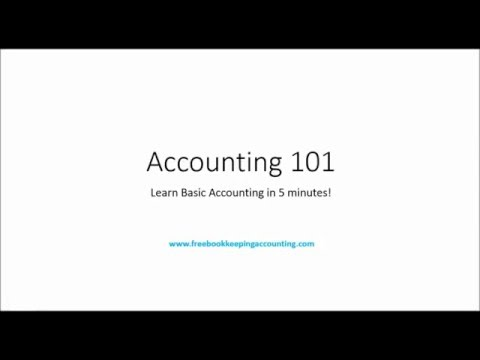 Accounting 101: Learn Basic Accounting in 7 Minutes!