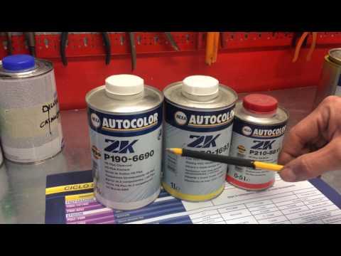 Preparazione vernice/fondo/trasparente - Vespe tutorial