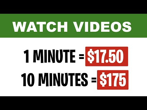 EARN $175 PER HOUR WATCHING VIDEOS [MAKE MONEY ONLINE]