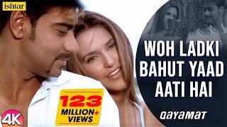 Woh Ladki Bahut Yaad Aati Hai - 4K Video   Ajay Devgan