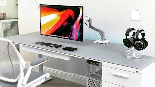 Ultimate Minimal 6K Mac Pro Desk Setup Tour (2020)