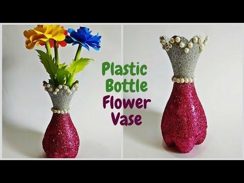 Diy Best Out Of Waste Plastic Bottle Flower Vase Plastic Bottle