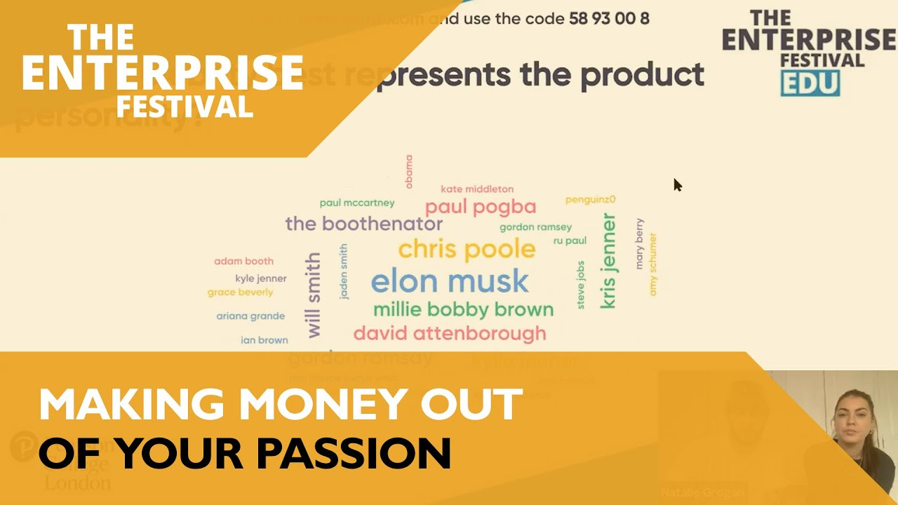 The Enterprise Festival: Making Money Out Of Your Passion