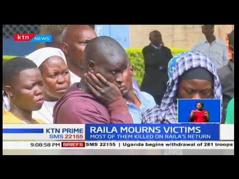 KTN Prime: Raila Odinga mourns victims