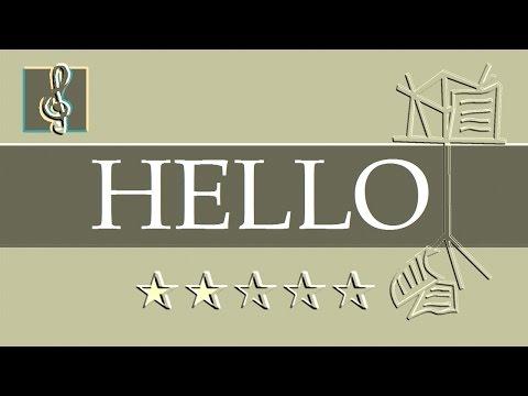 Video sheet music - OMFG - Hello (Guitar chords)