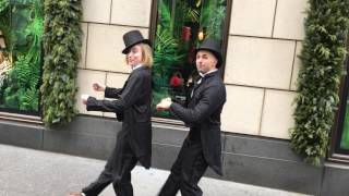 A Couple of Swells on 5th Ave., NYC