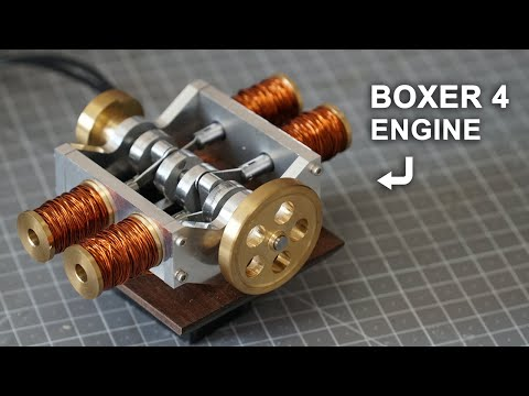 Making a Solenoid Boxer 4 Engine [19:55]