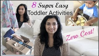 Toddler activities - Super easy, zero cost activities with things you already have!