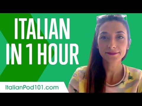 Learn Italian in 1 Hour - ALL You Need to Speak Italian - YouTube