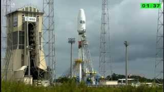 Пуск РН Союз СТ Б с космическим аппаратом O3b из Гвианы