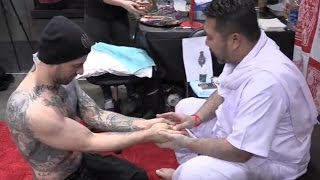 Nick Hawk Gets Sak Yant Poke Tattoo From Buddhist Master