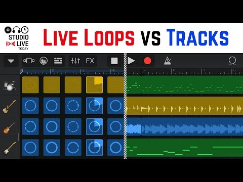 How to use Live Loops and Tracks view in GarageBand iOS? (iPad/iPhone)