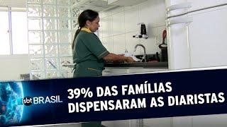 SBT BRASIL: 39% das famílias dispensaram trabalhadoras domésticas durante a pandemia
