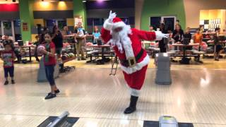 Bowling with Santa and He Bowls a Strike!