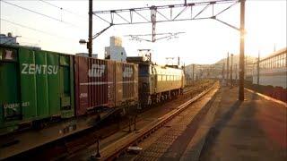 JR貨物EF66-24号機[吹]+コキ24B貨物列車5071レセンコーウィング積載!!