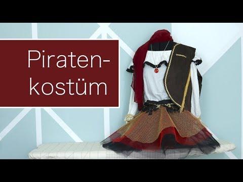 DIY Piratenkostüm für Mädchen nähen