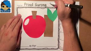 Very Simple Alphabet Art | Lowercase A Is For Apple | Arts And Crafts For Kids | Fall Activity