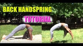 VERY DETAILED Back Handspring Tutorial for Beginners | Self Taught Gymnast