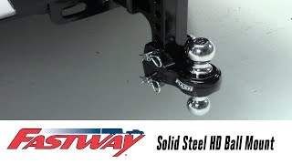In the Garage with Total Truck Centers™: Fastway FLASH™ Solid Steel HD Ball Mount