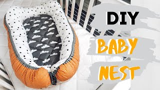 How to make your own DIY Baby Nest with removable mattress
