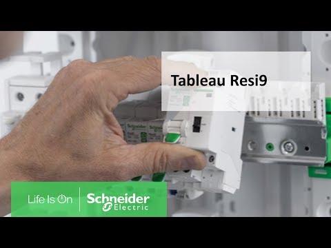 Resi9 - Coffret en saillie Blanc (RAL 9003)- 1 rangée de 13 modules
