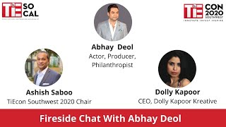 Fireside Chat with Abhay Deol | TiEcon Southwest 2020 | Abhay Deol