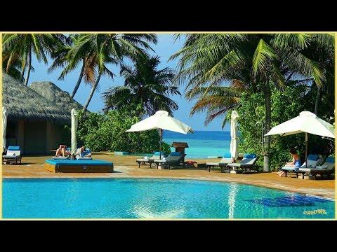 MALEDIVEN - VELIGANDU , Hotel-Insel mit tropischem Garten