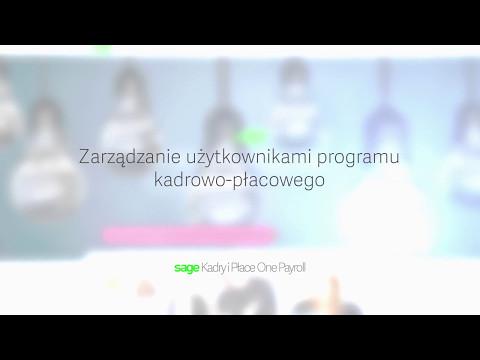 Sage Kadry i Płace One Payroll: Zarządzanie użytkownikami<