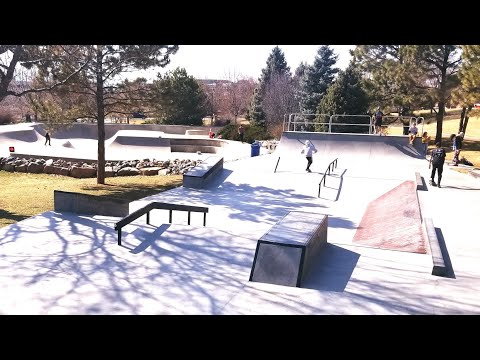 One Run Through The New Section At The Greenwood Village / DTC Skate Park on my Dirt Jumper