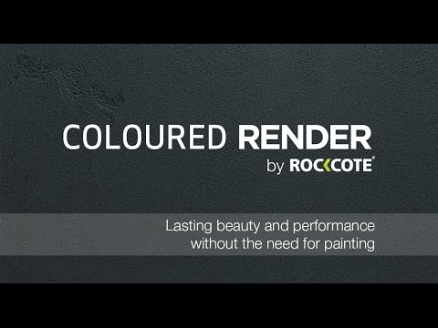 The ROCKCOTE Coloured Render Range