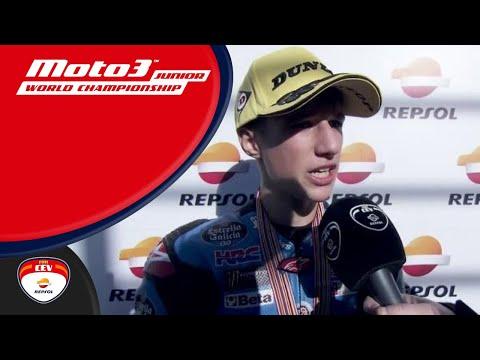 Sergio García winner race 2 Moto3™ Circuit Ricardo Tormo FIM CEV Repsol (English)