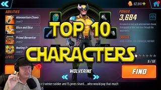 Top 10 Best Characters | Marvel Strike Force