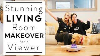 INTERIOR DESIGN | $1000 Living Room Makeover for a Viewer