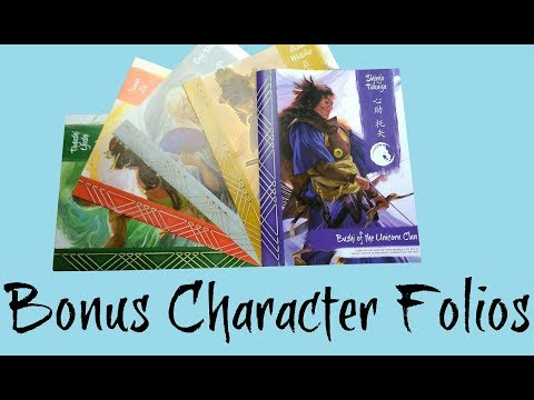 Free Bonus Characters for the Legend of the Five Rings Roleplaying Beginner from Fantasy Flight Game