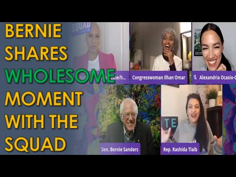 "Bernie Sanders PRAISES AOC and the Squad in Wholesome Video: ""You make me feel less alone"""