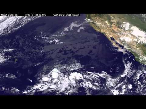 Tropical Storm Wali Seen by GOESWest
