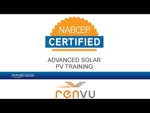 Kaplan Advanced Solar PV NABCEP Prep OnDemand Course ...