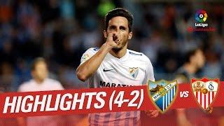El Málaga doblega al Sevilla (4-2)
