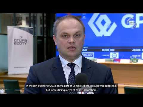 Paweł Łapiński discusses Grupa Azoty financial performance in 1Q 2019. - zdjęcie