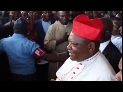 Arrivée du cardinal Fridolin Ambongo Besungu à Kinshasa